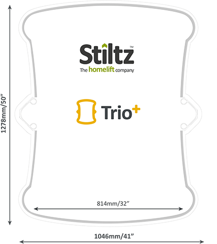 Stiltz Home Lift Trio Footprint